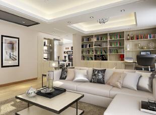 ,131平,现代,四居,客厅,黑白,