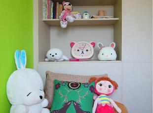 小孩房的设计也是在有限的条件下做的功能上的布局和收纳。,60.0平,6.0万,欧式,小户型,儿童房,