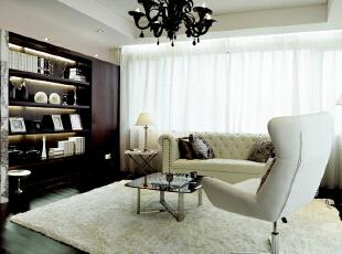,300平,68万,现代,别墅,客厅,黑白,黄色,