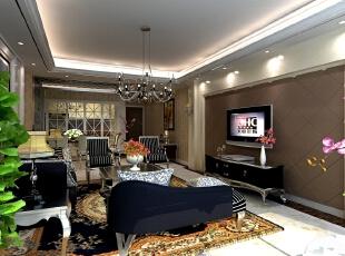 ,124平,25万,新古典,三居,客厅,白色,