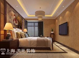 ,177平,10万,中式,四居,卧室,原木色,