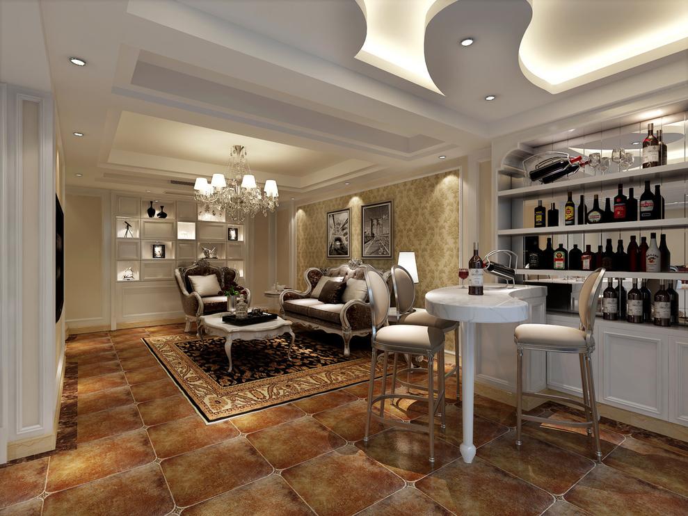 达安圣芭芭花园别墅户型装修欧式风格设计方案展示,上海聚通装潢腾龙