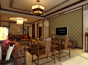 ,170平,13万,新古典,三居,客厅,简约,原木色,中式,