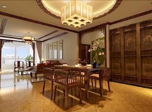 ,170平,13万,新古典,三居,餐厅,简约,原木色,中式,