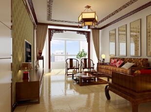 ,170平,13万,新古典,三居,客厅,中式,原木色,