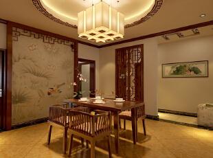 ,170平,13万,新古典,三居,中式,原木色,餐厅,