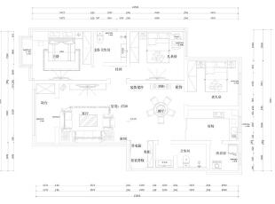 黄金海岸简欧装修139平三室两厅简欧风格装修户平面图,139平,12万,欧式,三居,