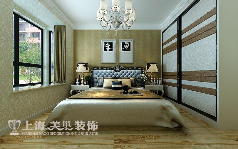 黄金海岸139平三室两厅简欧风格装修效果图图片