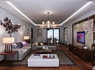 客厅,130平,20万,现代,三居,餐厅,中式,