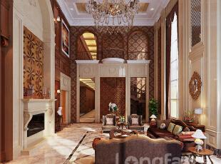 ,303平,30万,欧式,别墅,客厅,餐厅,原木色,黄色,