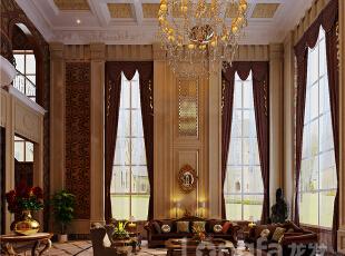 ,303平,30万,欧式,别墅,客厅,餐厅,黄色,