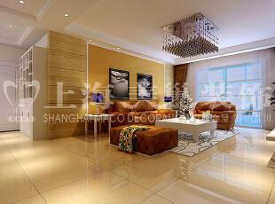 润城三室两厅143平装修现代简约案例效果图——客厅,主要以白色为空间主色调,用咖色配合木制的清新。将更多的温馨元素融入其中,在柔和光线的烘托下,家的感觉被传递出来。,143平,8万,现代,三居,润城装修,美巢装饰,装修装饰,装修优惠,装修团装,