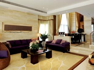 客厅:简单时尚又不失稳重,是整个家庭的代表,300平,25万,现代,别墅,