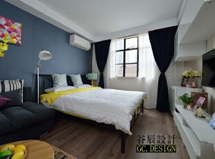 ,37平,12万,现代,一居,卧室,原木色,