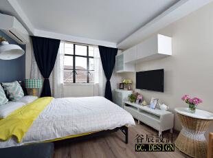 ,37平,12万,现代,一居,卧室,简约,客厅,原木色,白色,黄色,