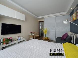 ,37平,12万,现代,一居,客厅,卧室,小资,原木色,白色,黄色,