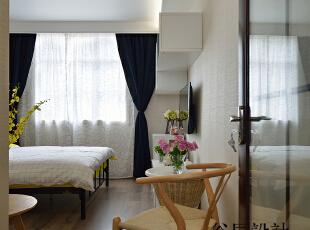 ,37平,12万,现代,一居,客厅,卧室,日式,简约,小资,黄色,原木色,白色,