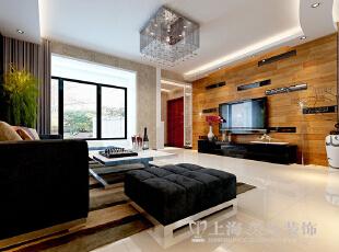 紫荆尚都138平三室两厅现代简约装修样板间赏析——电视背景墙,138平,9万,现代,三居,客厅,原木色,