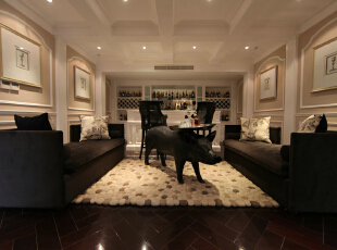 ,219平,35万,美式,别墅,客厅,白色,