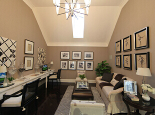 ,219平,35万,美式,别墅,客厅,咖啡色,