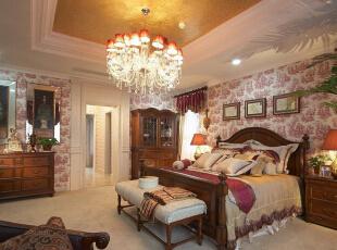 ,311平,40万,美式,别墅,卧室,粉红色,白色,