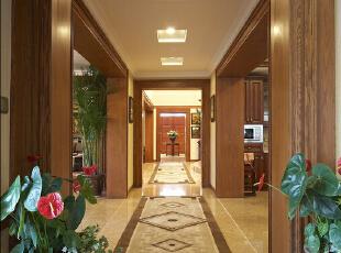 ,311平,40万,美式,别墅,客厅,原木色,