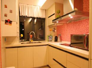,420平,100万,现代,别墅,厨房,白色,粉红色,