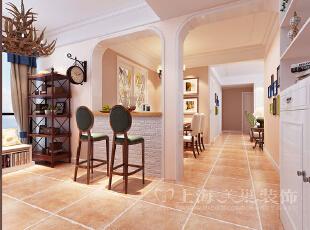 锦艺轻纺城87平简美风格3室2厅装修效果图——廊厅装修效果图,87平,6万,美式,三居,餐厅,白色,
