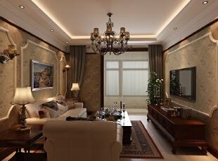 ,84平,6万,两居,混搭,客厅,原木色,