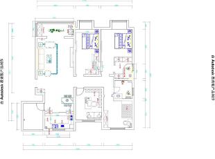方圆经纬166平四室两厅简欧风格装修户型图,166平,7万,现代,一居,