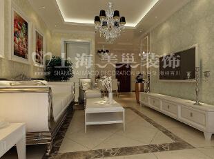 润城两室两厅87平简欧风格案例——客餐厅布局效果图,87平,5万,两居,欧式,白色,原木色,客厅,餐厅,