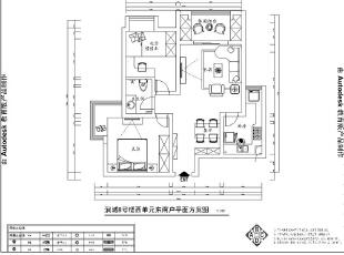 润城两室两厅87平简欧风格案例——美巢装饰户型效果图,87平,5万,欧式,两居,玄关,客厅,餐厅,卧室,白色,
