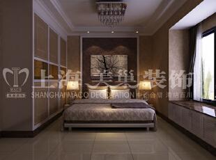 润城两室两厅87平简欧风格案例——卧室布局效果图,87平,5万,欧式,两居,原木色,卧室,