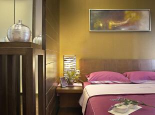 次卧:简单舒适,与众不同的背景墙和吊顶,展现出与众不同的一面,186平,15万,中式,四居,咖啡色,黄色,