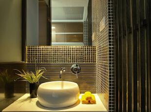 卫生间:古朴的休息间让人有一种穿越古今般的感觉,整体古色古香,186平,15万,中式,四居,卫生间,黑白,