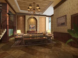 ,240平,30万,欧式,复式,客厅,原木色,