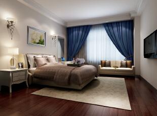,107平,7万,现代,三居,卧室,白色,