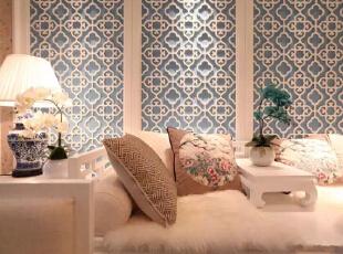,170平,27万,新古典,四居,客厅,白蓝,