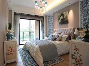 ,170平,27万,新古典,四居,卧室,白蓝,
