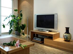简洁但不显简单电视墙。,120平,14万,简约,两居,客厅,白色,