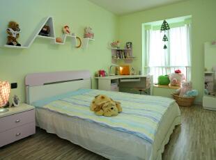 ,120平,14万,简约,两居,卧室,绿色,