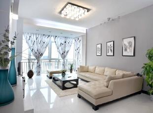雅致的何止是空间,还有心情。,138平,16万,简约,两居,客厅,白色,