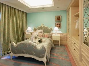 紫禁尚品国际装饰——儿童房 清新 淡雅 舒适,378平,68万,欧式,别墅,绿色,黄色,白色,