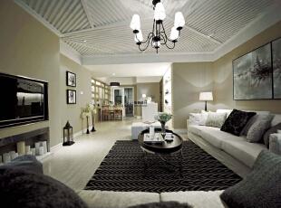 ,140平,10万,现代,三居,客厅,白色,