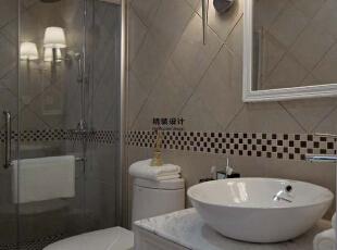 干湿分离的卫生间是现在多数人的选择,看起来非常时尚、前卫,140平,10万,现代,三居,卫生间,白色,