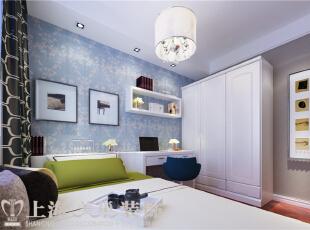 庭三室两厅135平现代简约装修案例效果图——儿童房装修效果图,135平