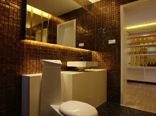 卫生间:洁白的浴盆突出显眼,大理石的地板不紧实用性比较强,而且好打理,466平,30万,现代,别墅,卫生间,黄白,
