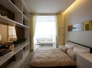主卧:简单的陈设可以让人放下一天的疲累,全身心的享受这份宁静,466平,30万,现代,别墅,卧室,白色,