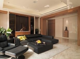 ,138平,15万,现代,四居,客厅,原木色,