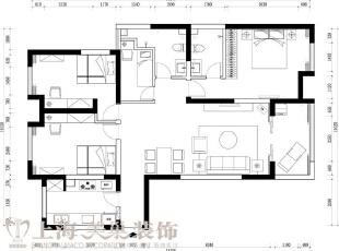 卢浮公馆89平两室两厅简欧风格装修户型图,89平,6万,欧式,两居,